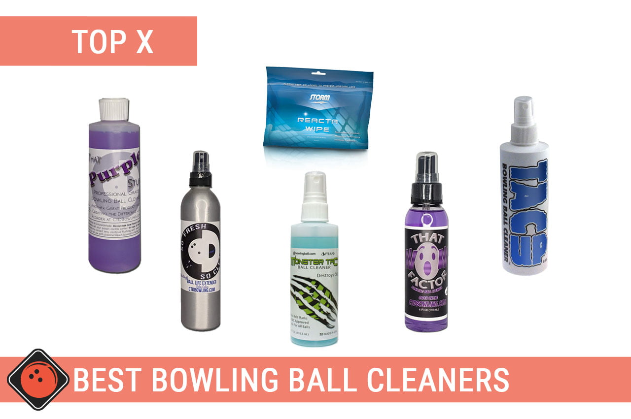 A few bowling ball cleaner bottles - Title picture for Best Bowling Ball Cleaners