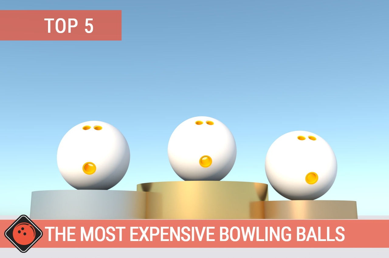 Bowling Balls on podium - Title Picture for Top 5 The Most Expensive Bowling Balls