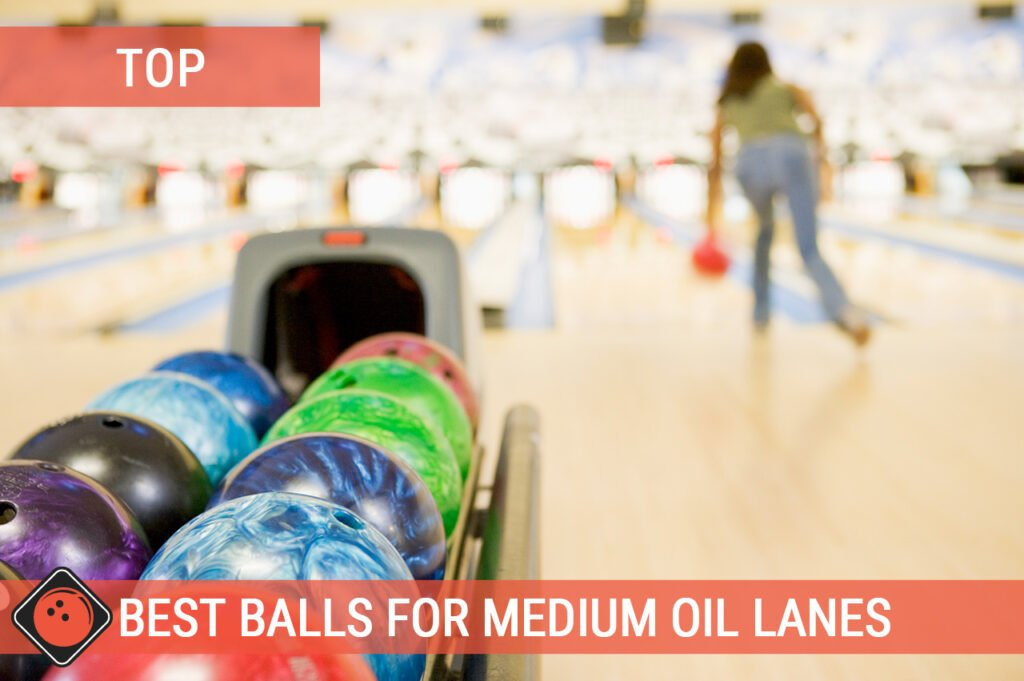 Women throwing a bowling ball - Title picture for Best Medium Oil Bowling Ball Reviews